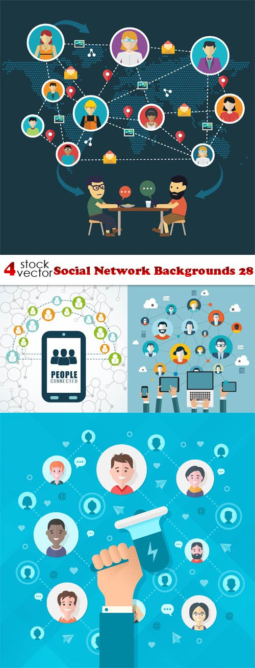 Vectors - Social Network Backgrounds 28