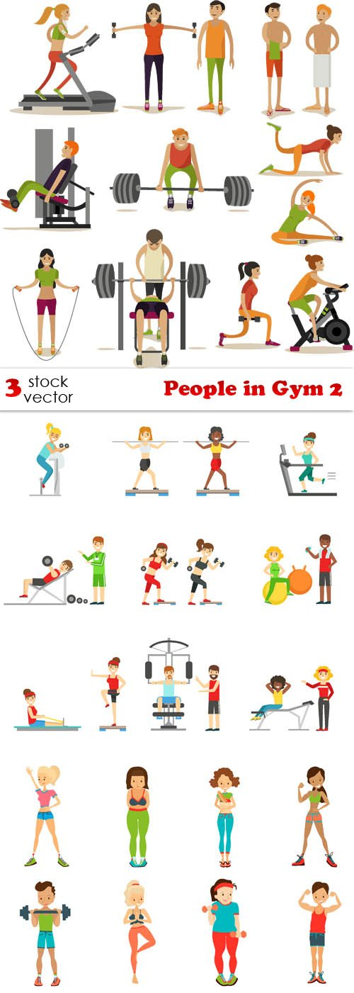 Vectors - People in Gym 2