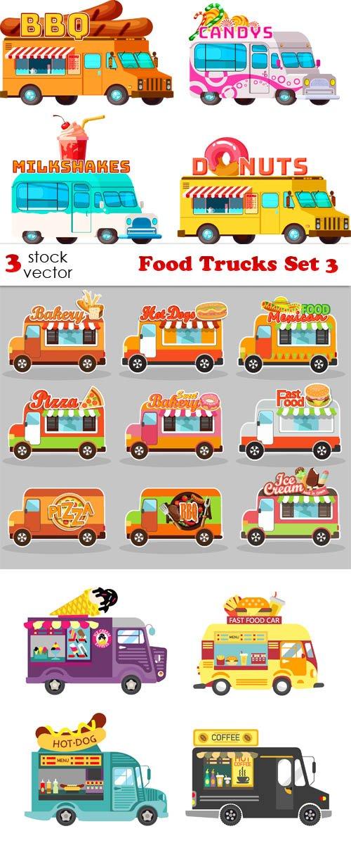 Vectors - Food Trucks Set 3