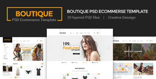 Boutique - Ecommerce PSD Template 16014926