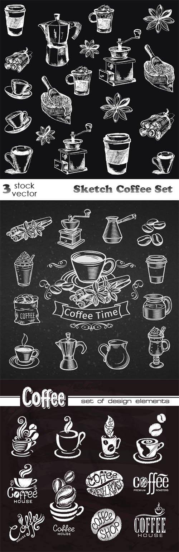 Vectors - Sketch Coffee Set
