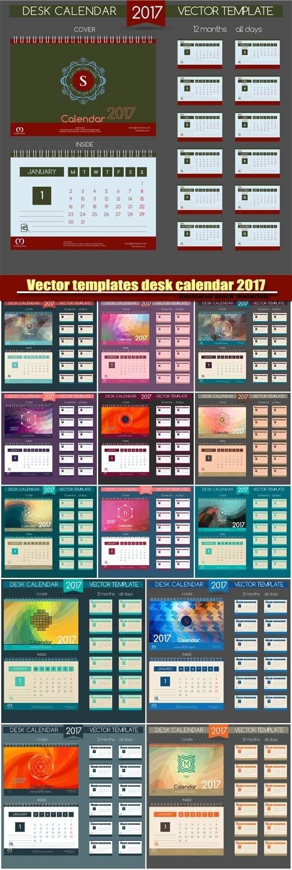 Calendar templates 2017, vector Illustrations