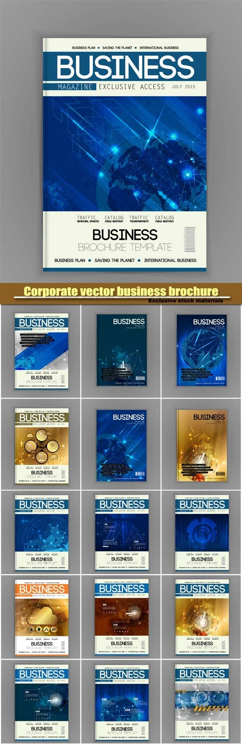Business brochure vector templates design