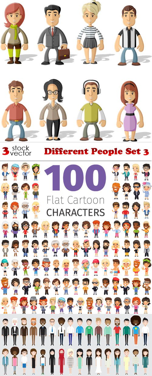 Vectors - Different People Set 3