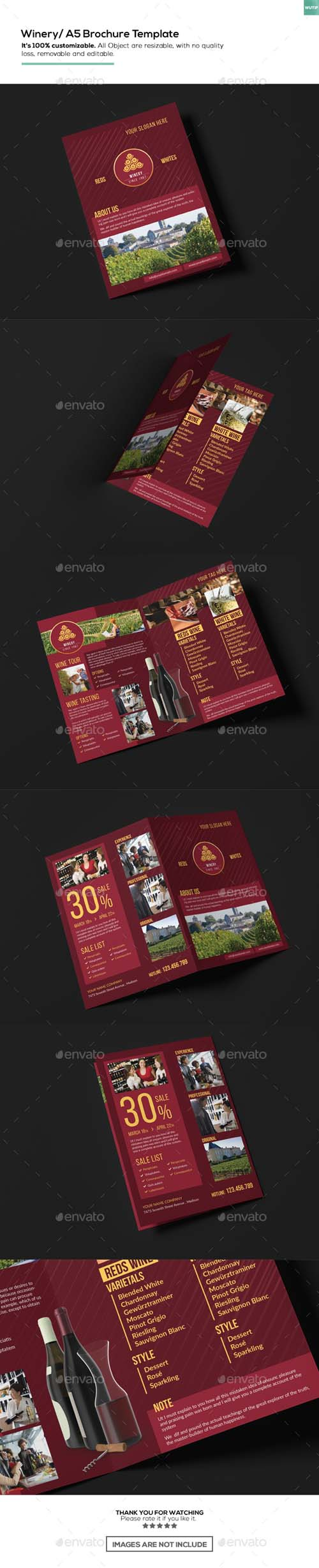 Winery/ A5 Brochure Template 15911030