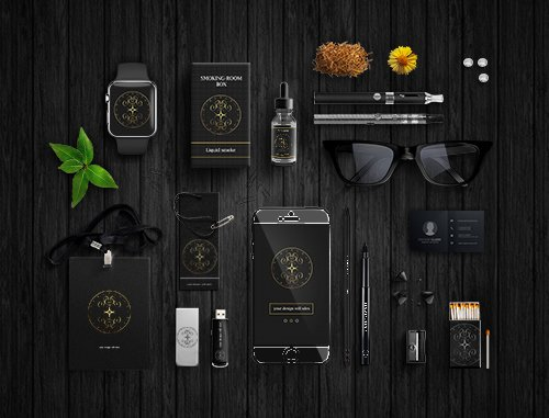 PSD Mock-Up - Business Black Corporate style