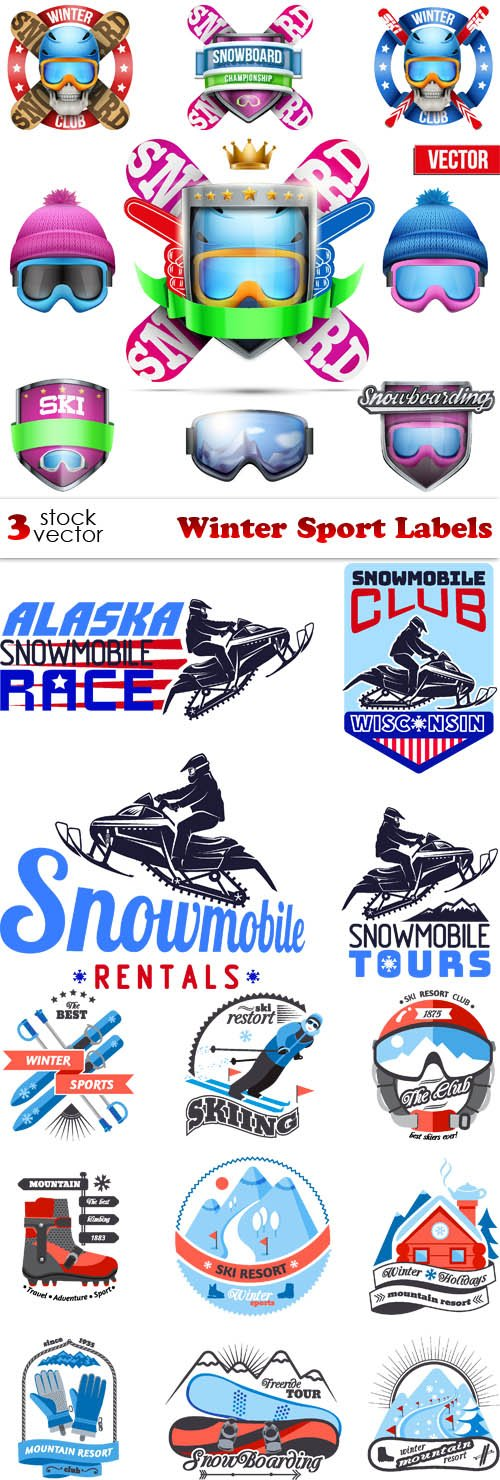 Vectors - Winter Sport Labels