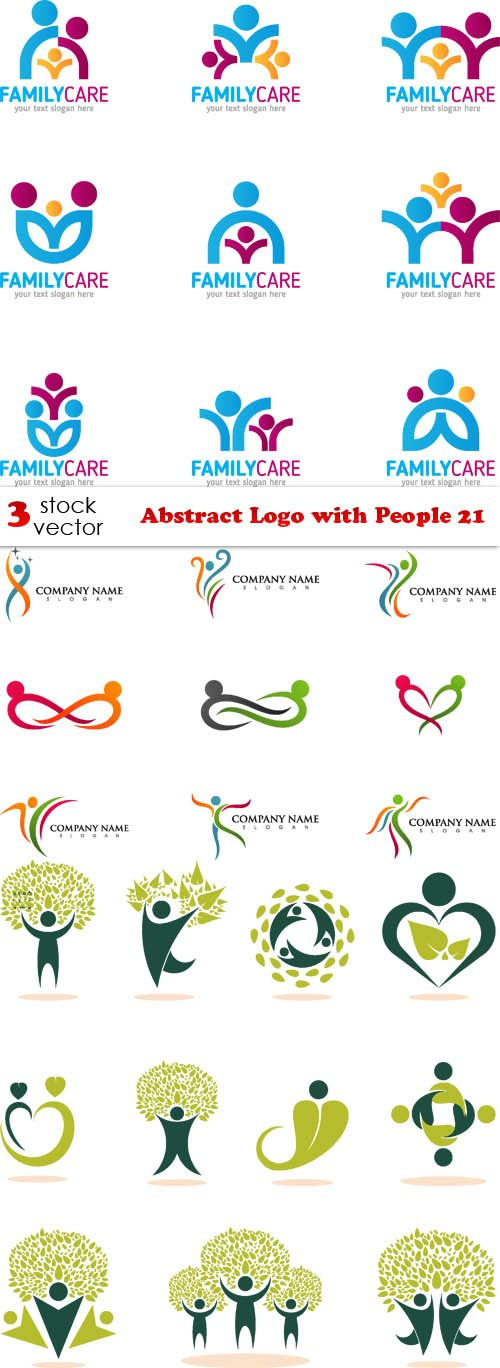 Vectors - Abstract Logo with People 21