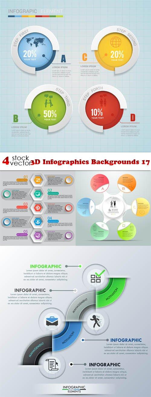 Vectors - 3D Infographics Backgrounds 17
