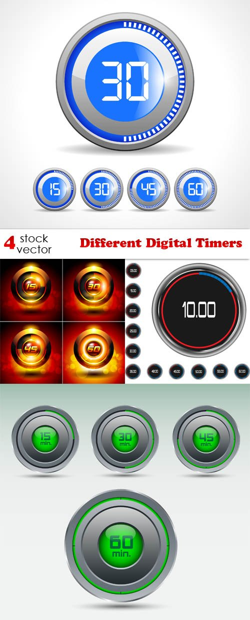 Vectors - Different Digital Timers