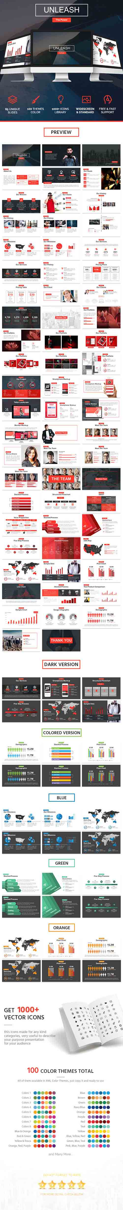 Unleash Powerpoint Template - Relase the Power! 17564307