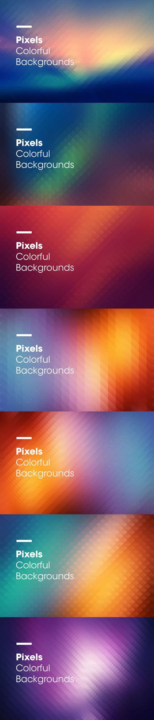 Pixels | Colorful Backgrounds