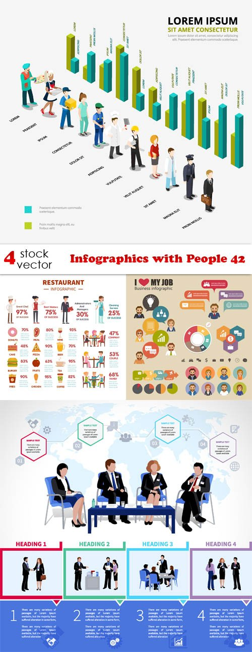 Vectors - Infographics with People 42