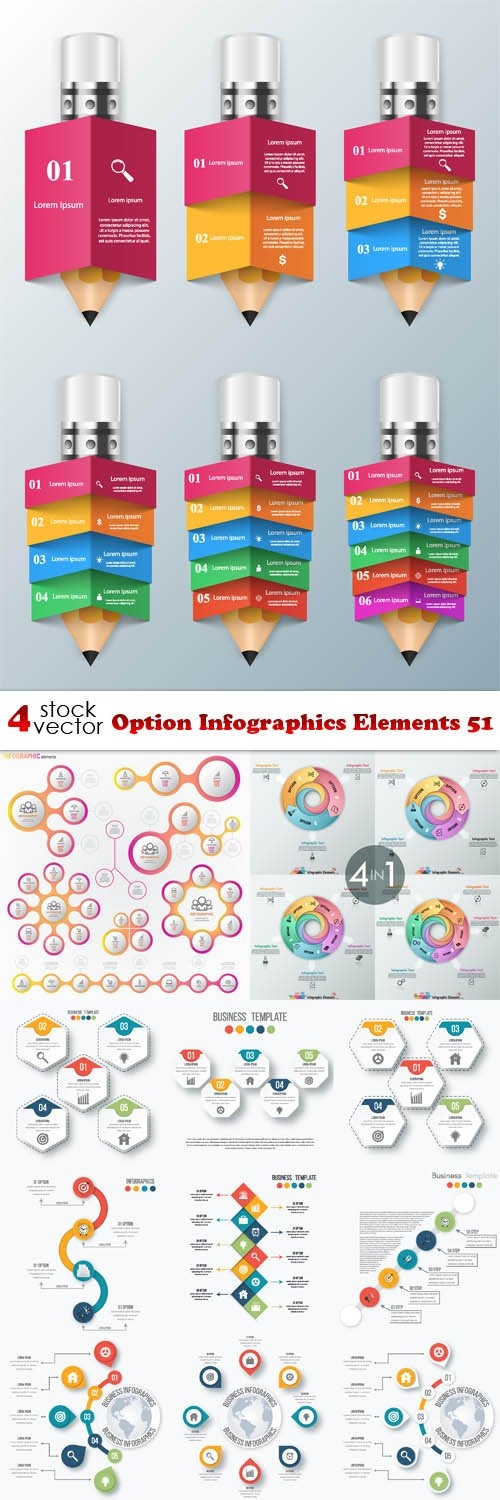 Vectors - Option Infographics Elements 51