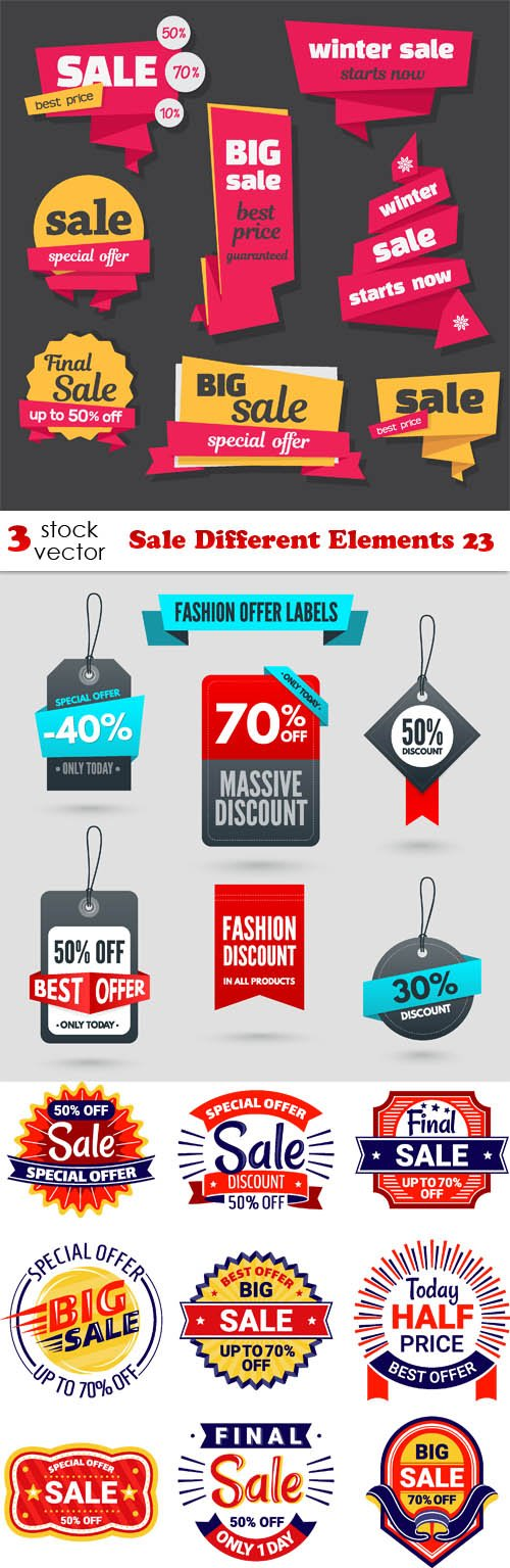 Vectors - Sale Different Elements 23