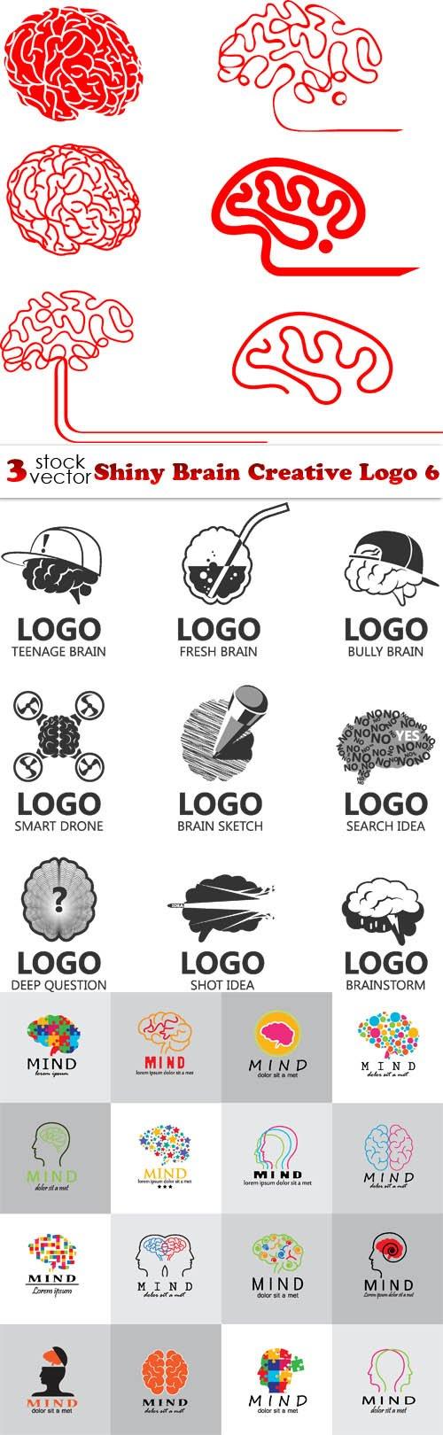 Vectors - Shiny Brain Creative Logo 6