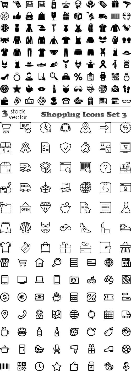 Vectors - Shopping Icons Set 3