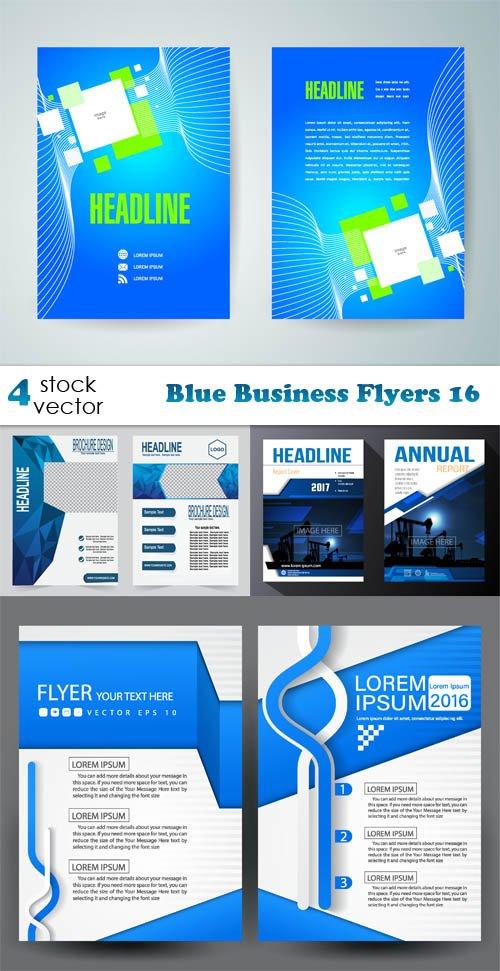 Vectors - Blue Business Flyers 16