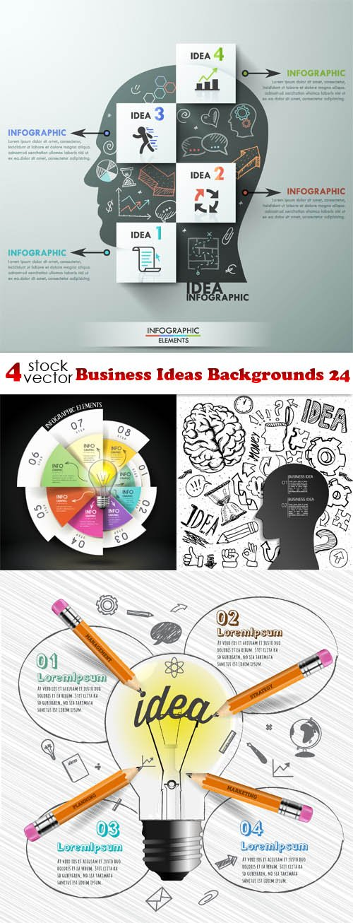 Vectors - Business Ideas Backgrounds 24