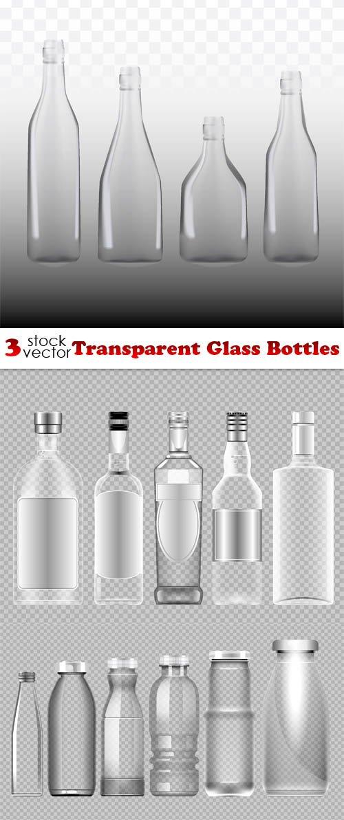Vectors - Transparent Glass Bottles