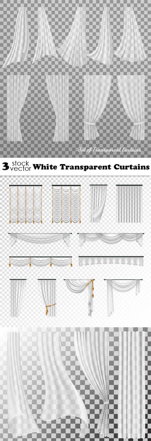 Vectors - White Transparent Curtains