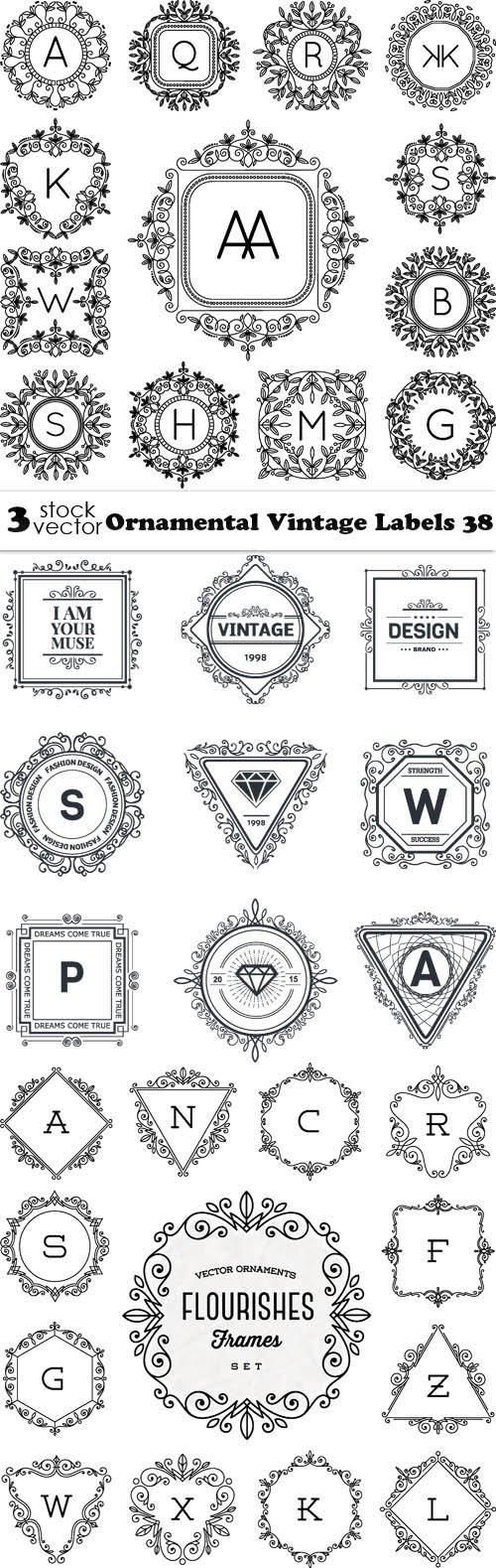 Vectors - Ornamental Vintage Labels 38