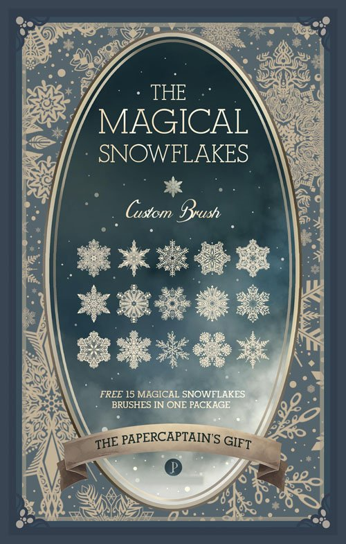 The Magical Snowflakes CUSTOM BRUSH for Photoshop [ABR]