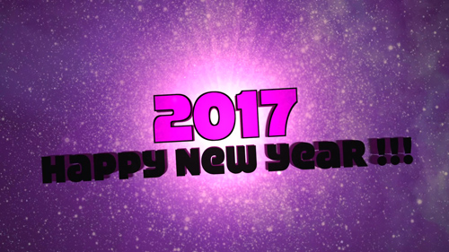 HD Footage - Happy New Year 2017 - Text Animation Background Loop