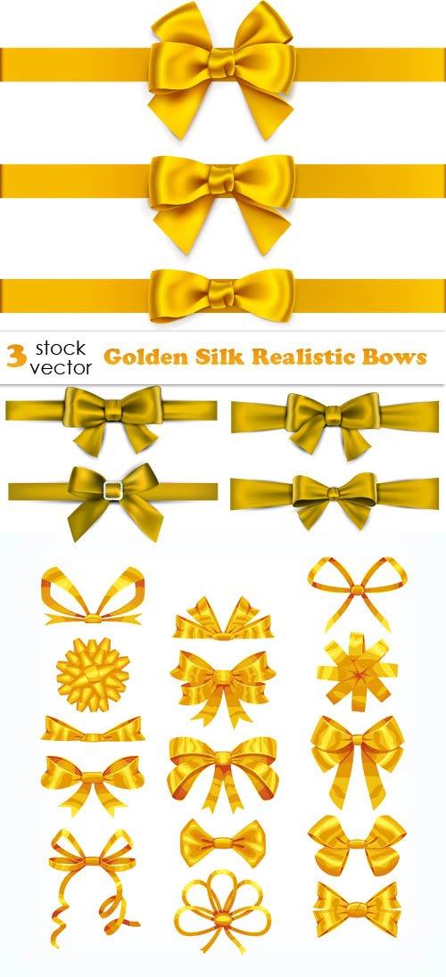 Vectors - Golden Silk Realistic Bows