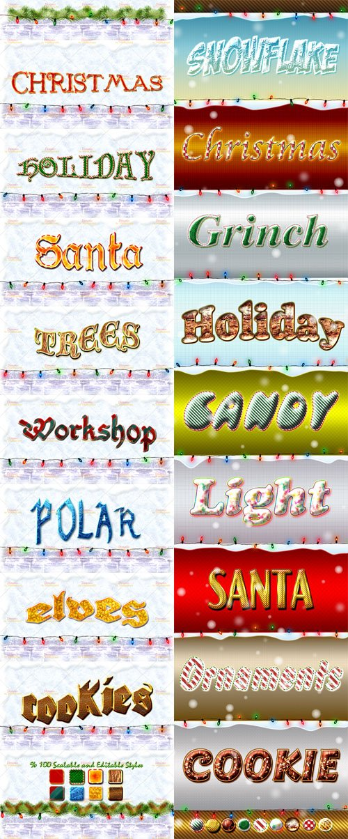 Holiday Photoshop Layer Styles Vol.2