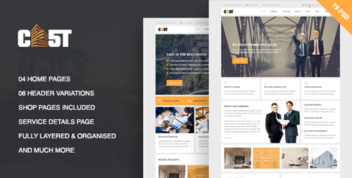 CAST - A Construction & Business PSD Template 19050456