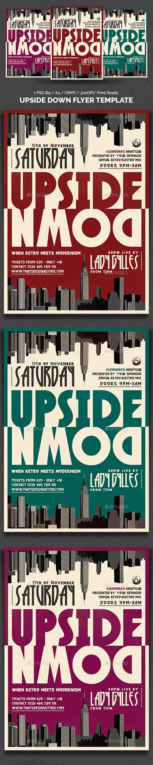 Upside Down Flyer Template 14327044