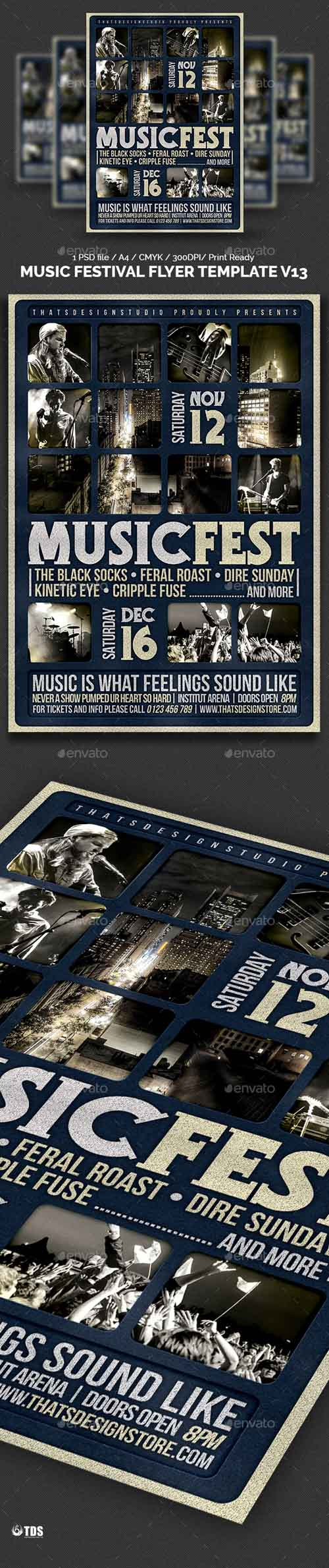 Music Festival Flyer Template V13 14173238