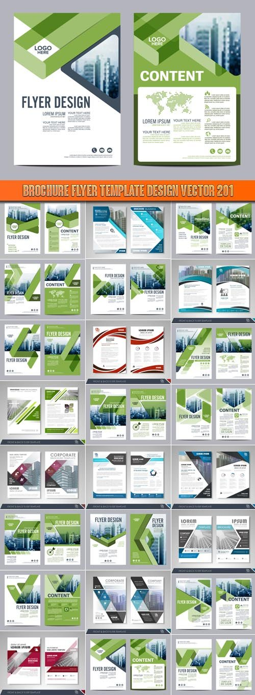 Brochure flyer template design vector 201