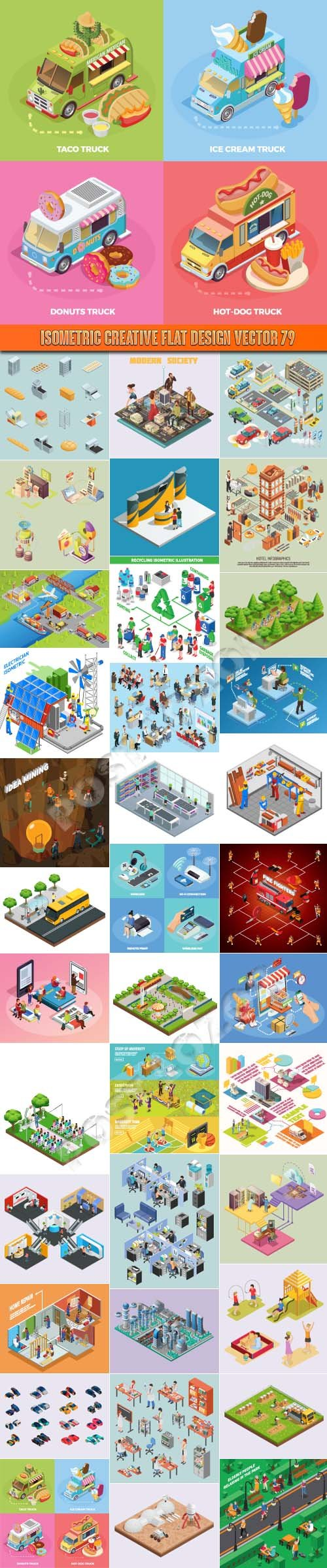 Isometric creative flat design vector 79