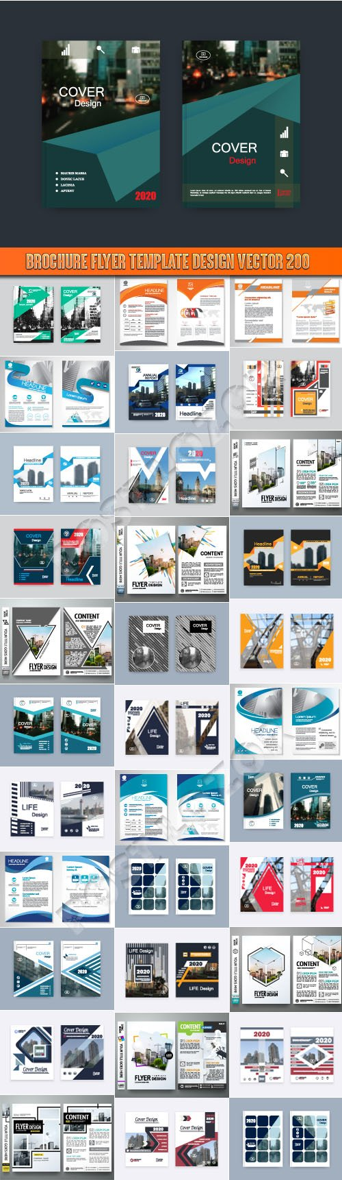 Brochure flyer template design vector 200