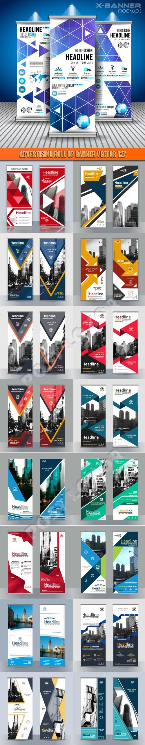 Advertising Roll up banner vector 127