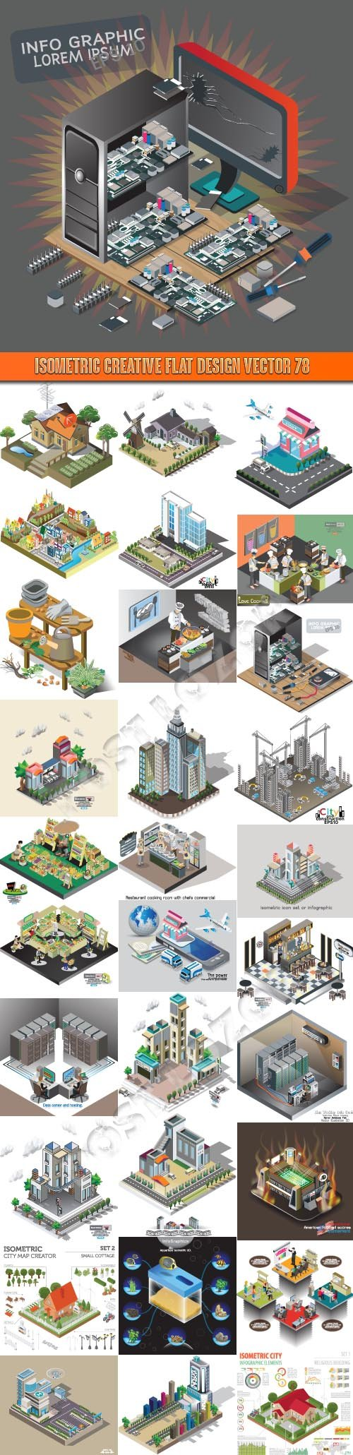 Isometric creative flat design vector 78