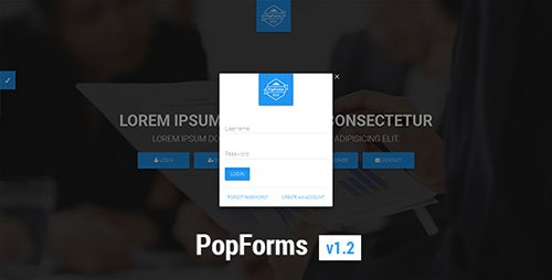 CodeCanyon - PopForms v1.2 - Material Design Responsive Bootstrap Modal Form Set - 16408331