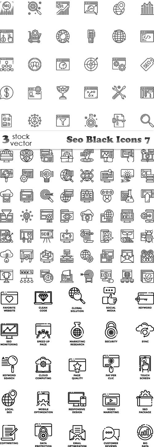 Vectors - Seo Black Icons 7