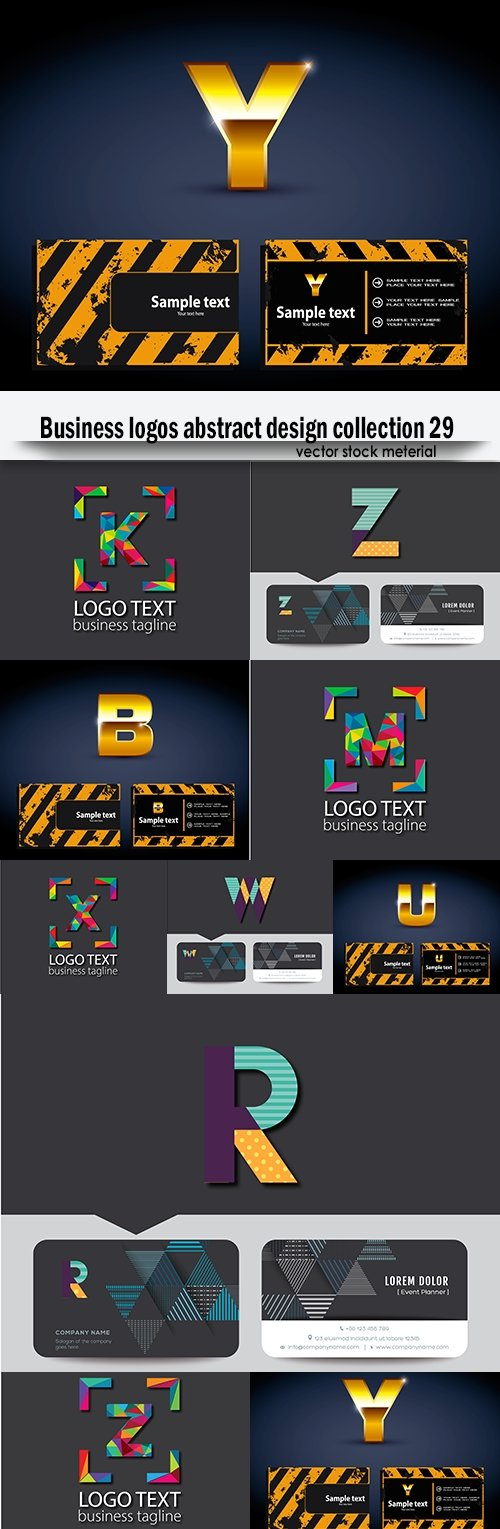 Business logos abstract design collection 29