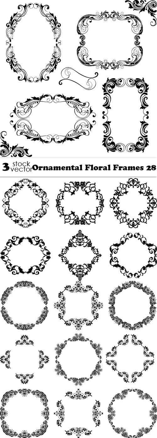Vectors - Ornamental Floral Frames 28
