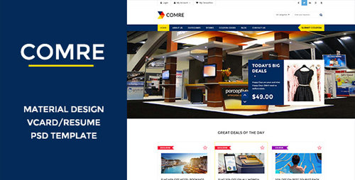 Comre - Coupon & Offers PSD Template 10771869