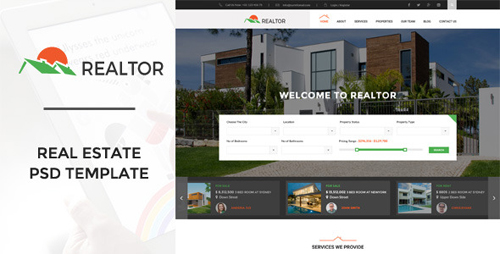 Realtor | Real Estate PSD Template 11044806