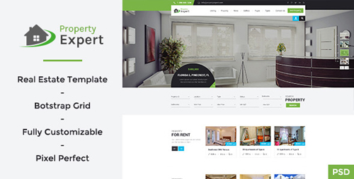 Property Expert - Real Estate PSD Template 11105763