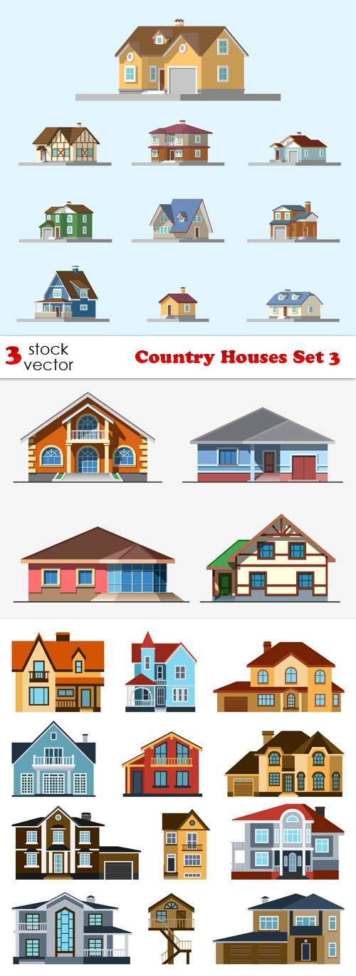 Vectors - Country Houses Set 3