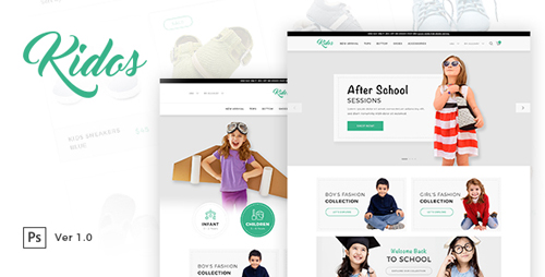 Kidos - Kids Clothing eCommerce PSD Template 18705291