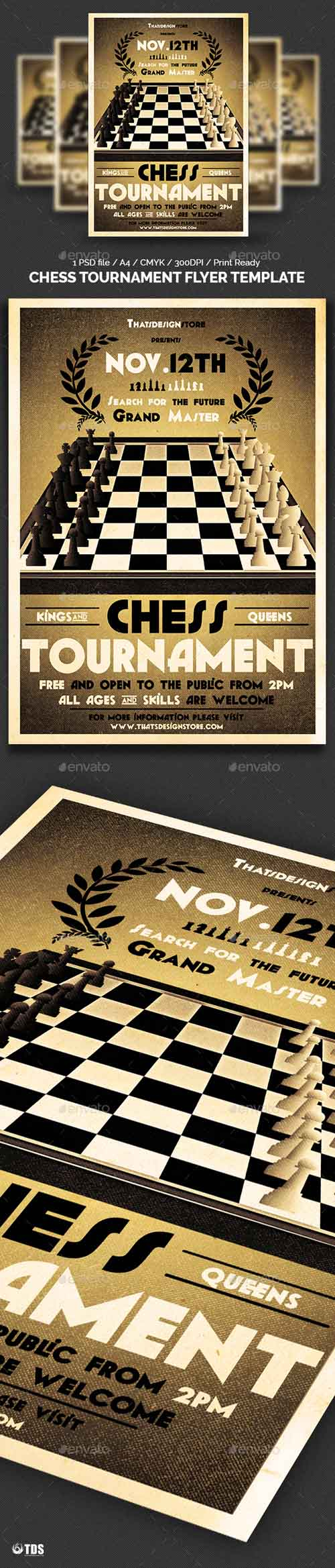 Chess Tournament Flyer Template 10049895