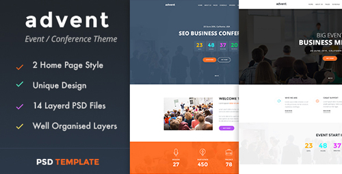 advent - Event & Conference PSD Template 16459403