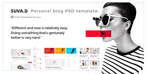 SUVD - Personal Blog PSD Template 15527998